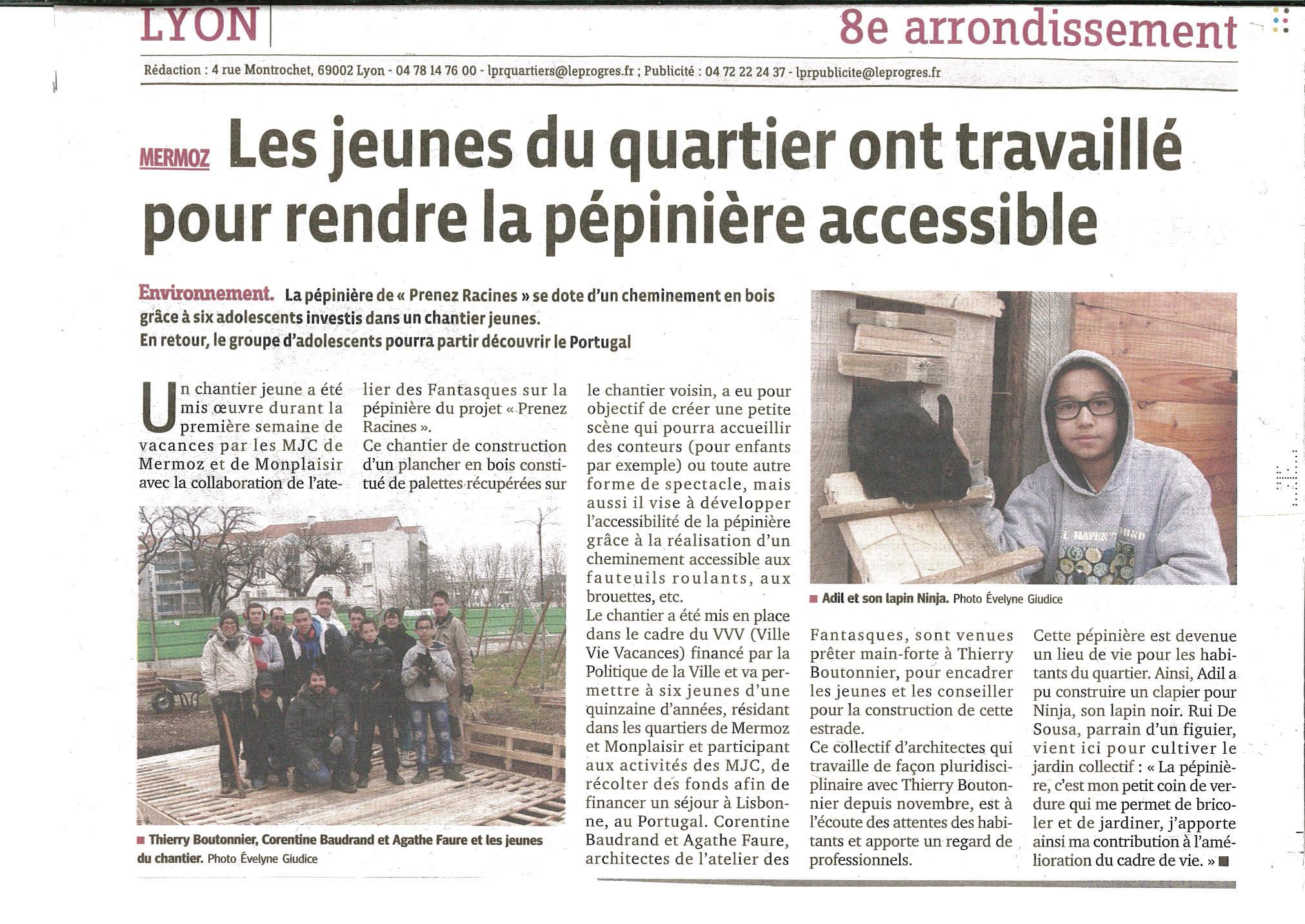 article Le Progrès 4.03.2013